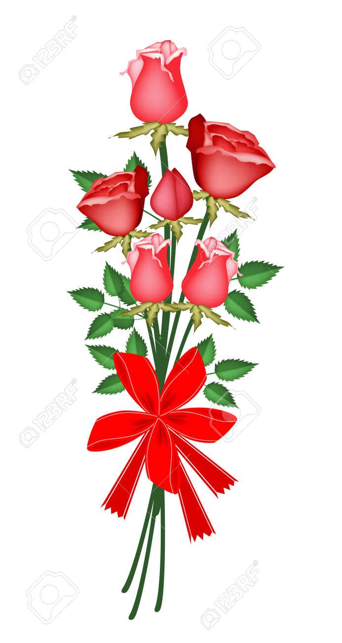 Symbol of love and luxury an illustration of beautiful red rose symbol of love and luxury an illustration of beautiful red rose boquet with red ribbon buycottarizona