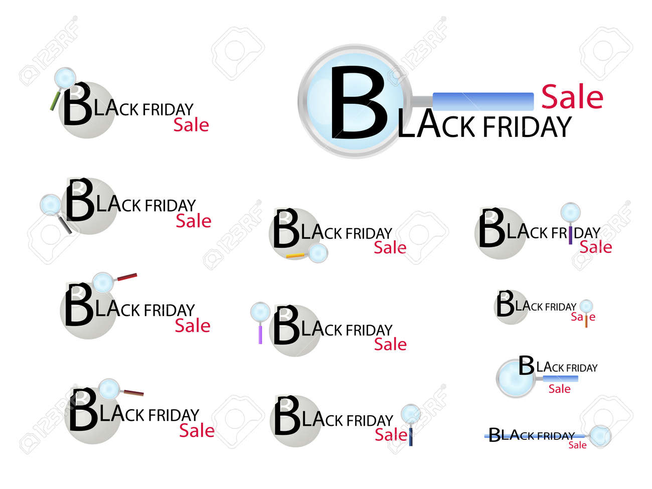 Magnifying Glass Searching Cheap Product On Black Friday Best ...