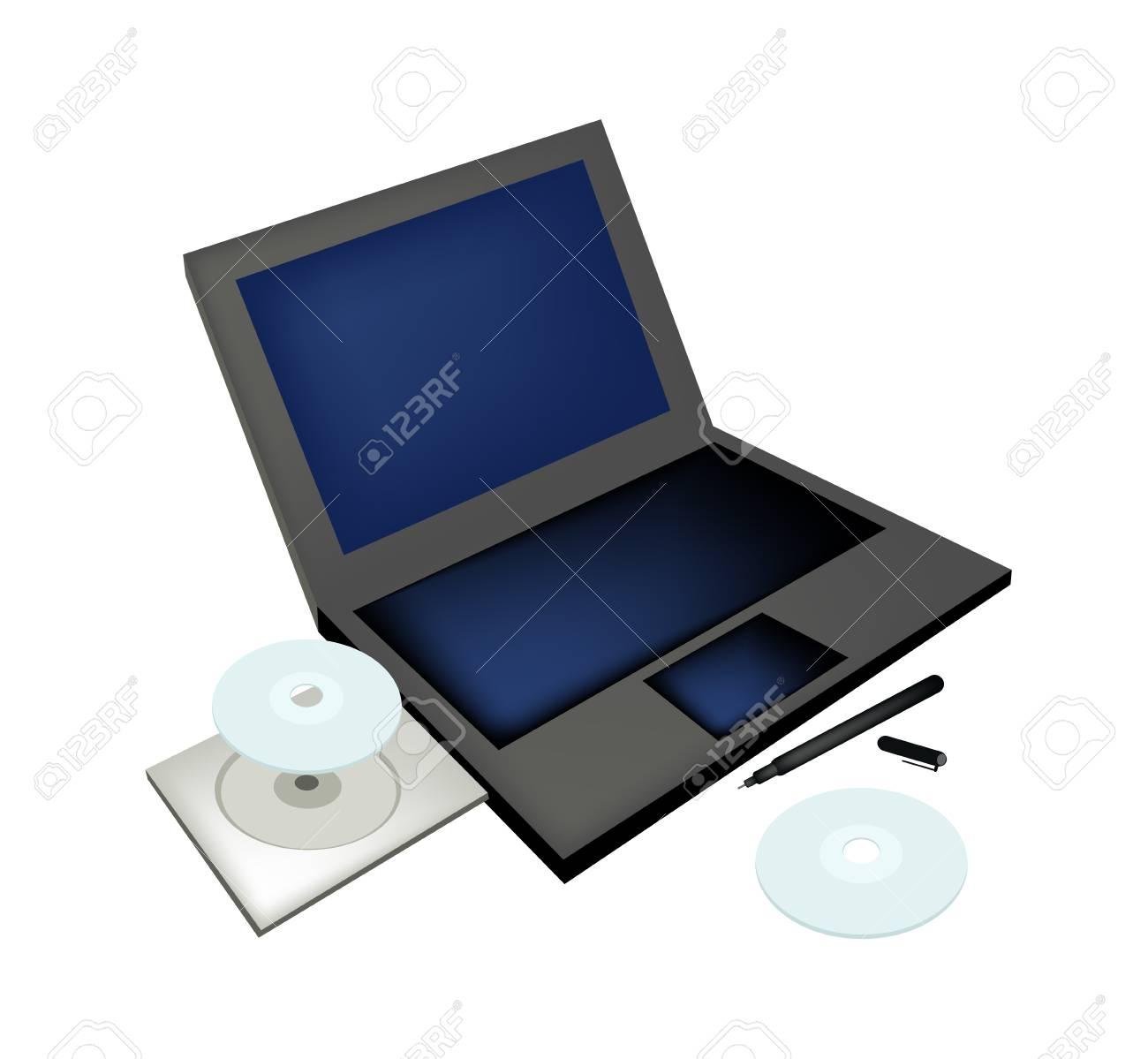 Fournitures De Bureau Ordinateur Portable Avec Lecteur De Disque