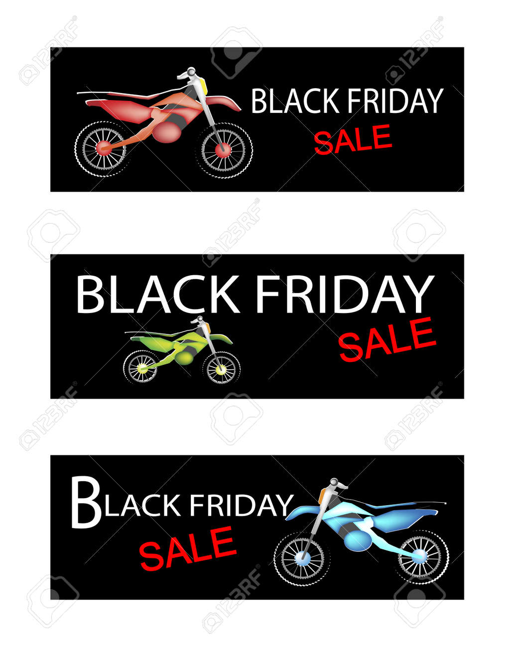 Illustration Of Motorcycle Or Sports Bike On Black Friday Shopping Royalty Free Cliparts Vectors And Stock Illustration Image 48000743