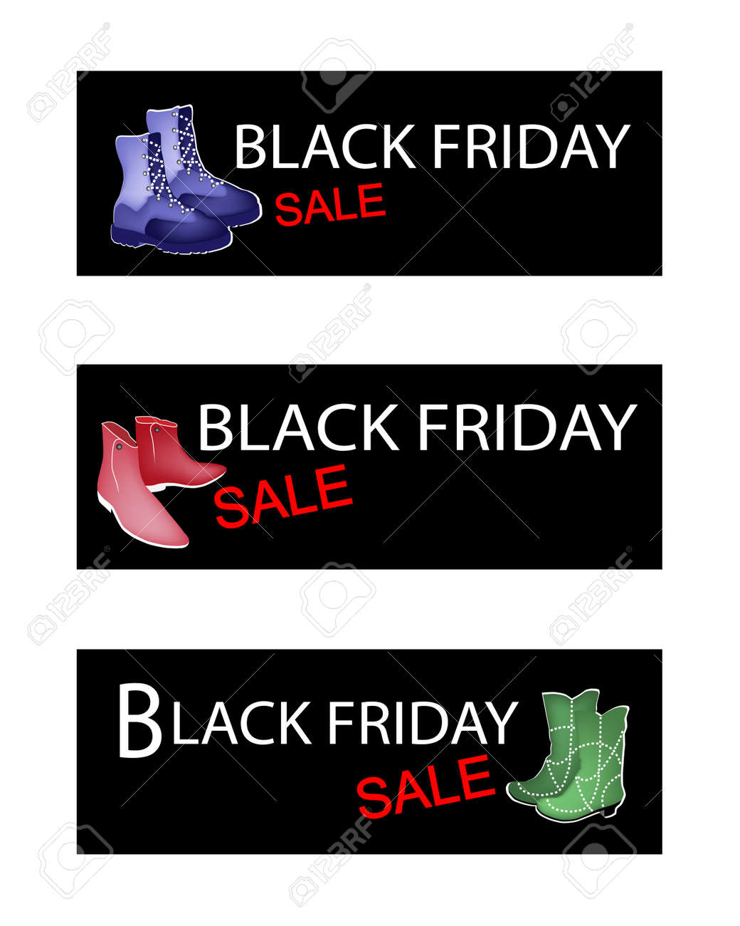 De Pour Chaussures À La Friday Shopping Season Mode Sur Illustration Démarrer Labels Christmas Commerciaux Black PN8X0knwO
