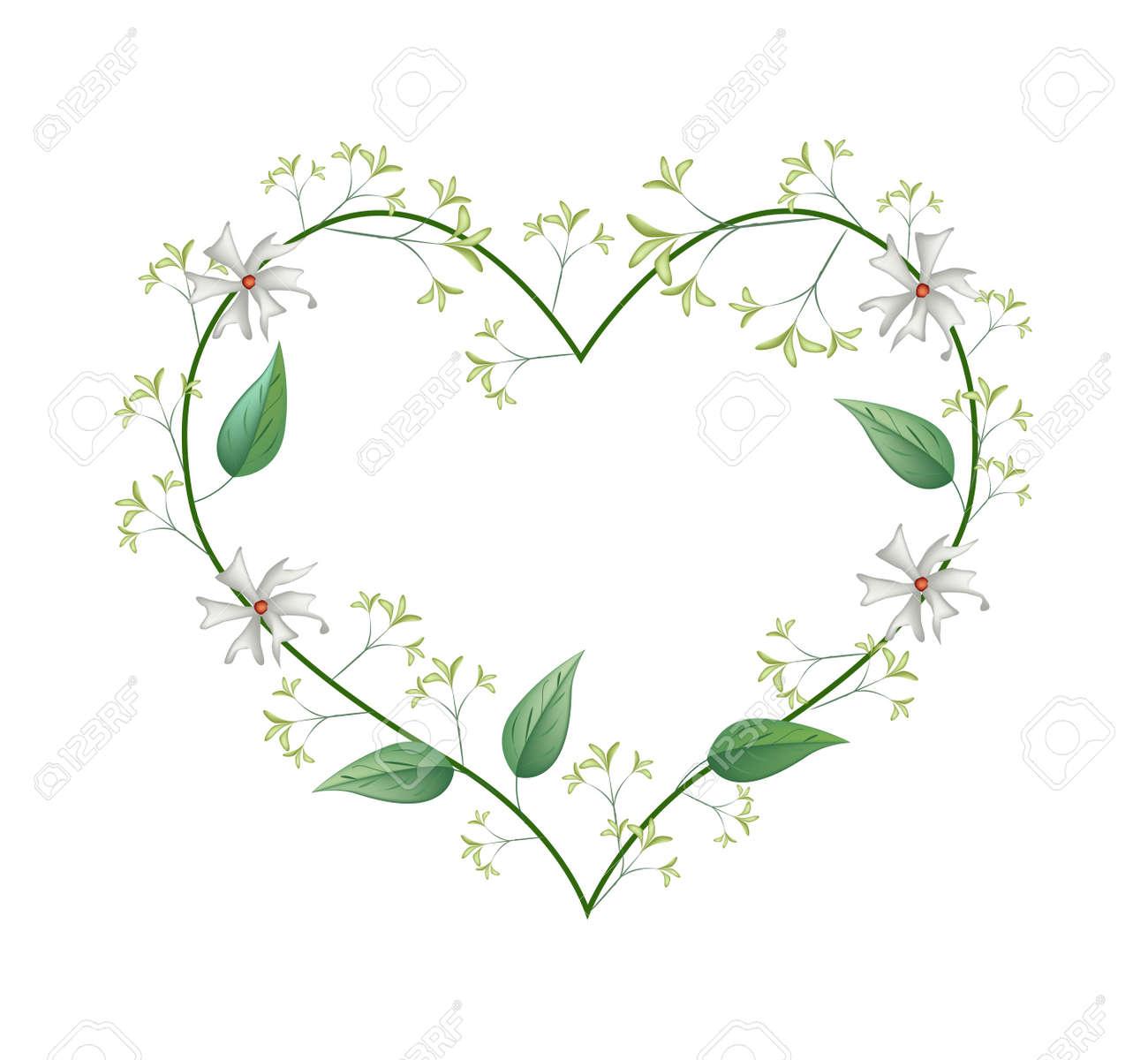 Love Concept Illustration Of White Tuberose Flowers Or Night