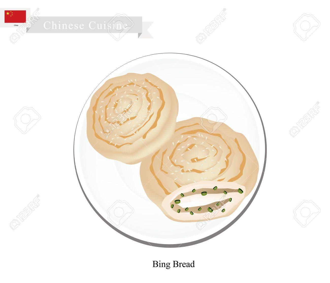 Chinesische Küche, Illustration Von Bing Oder Chinesisch Crispy ...