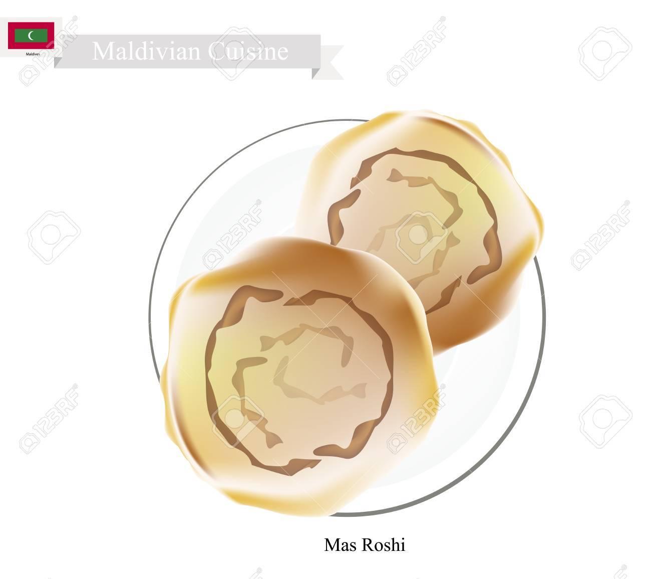 モルディブ料理イラスト Mas 老師やシャキッとした平らな細切り