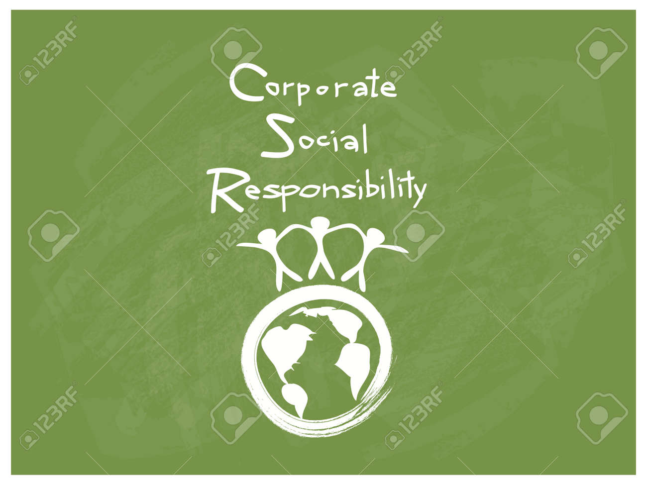 Business Concepts, World Environment with CSR Abbreviation or Corporate Social Responsibility Achieve Notes. - 68631146