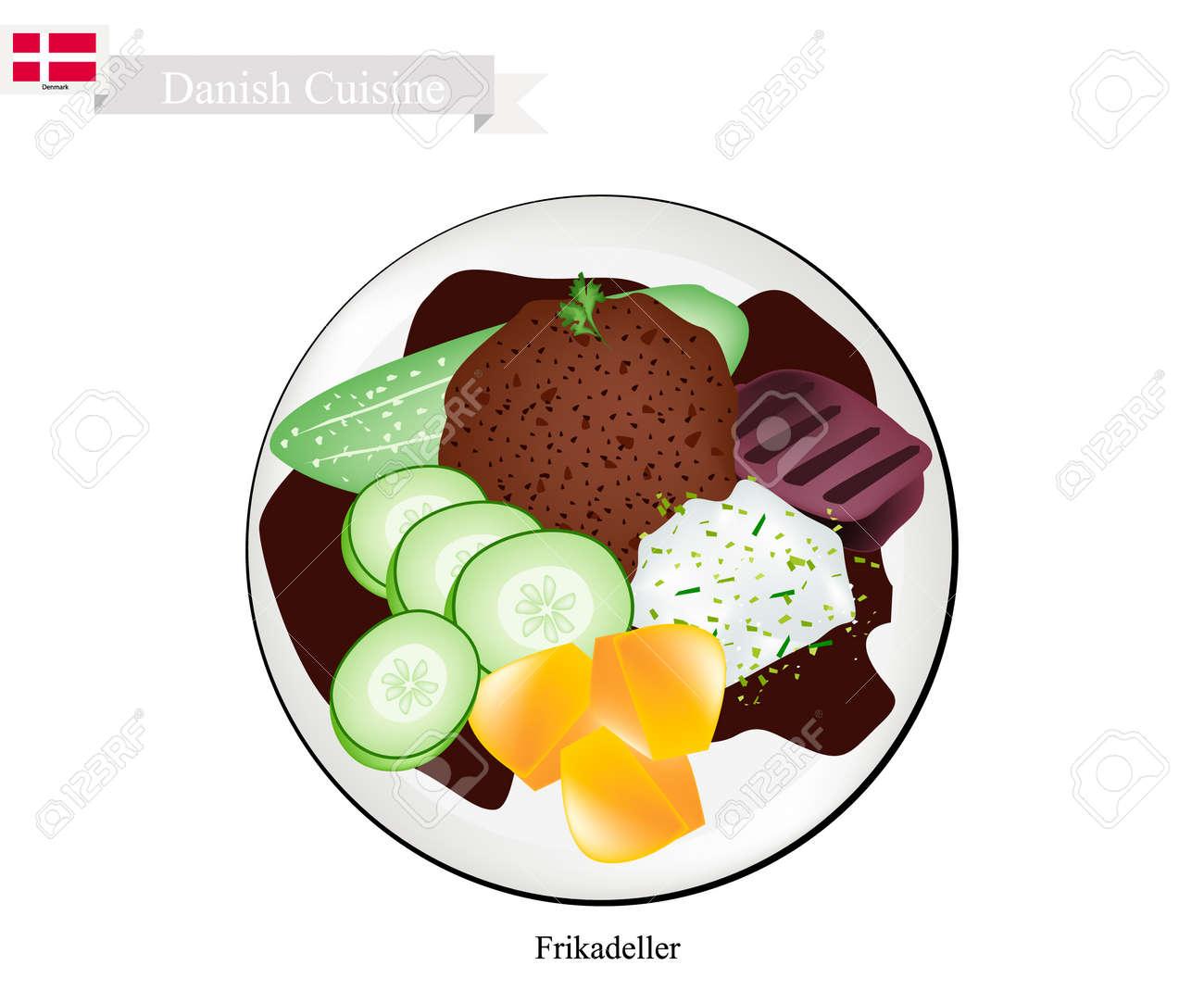 Dänische Küche | Danische Kuche Illustration Von Frikadeller Oder Traditionellem Pan