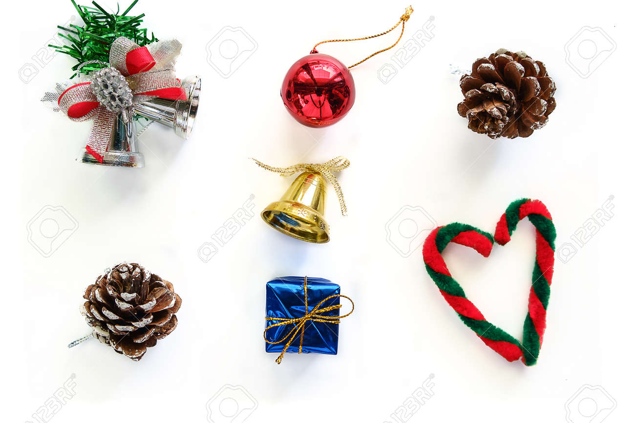 Christmas Ornament And Decoration On White Background Fotos ...