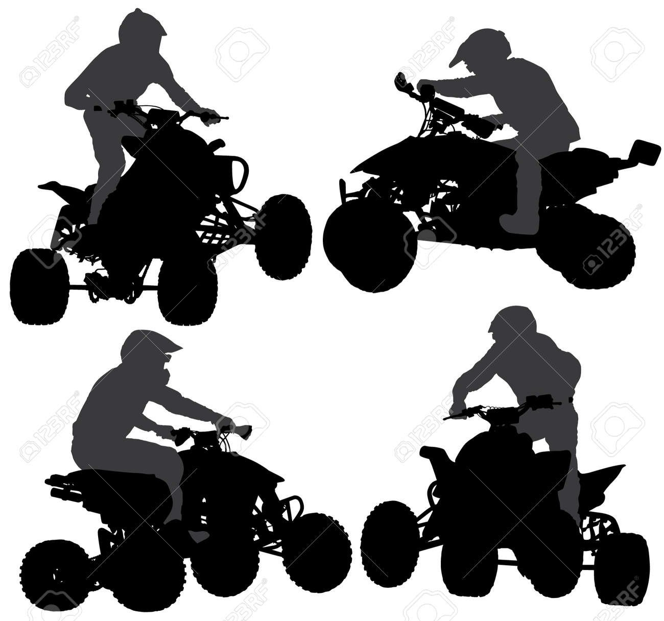 quadbike silhouette on white background royalty free cliparts rh 123rf com