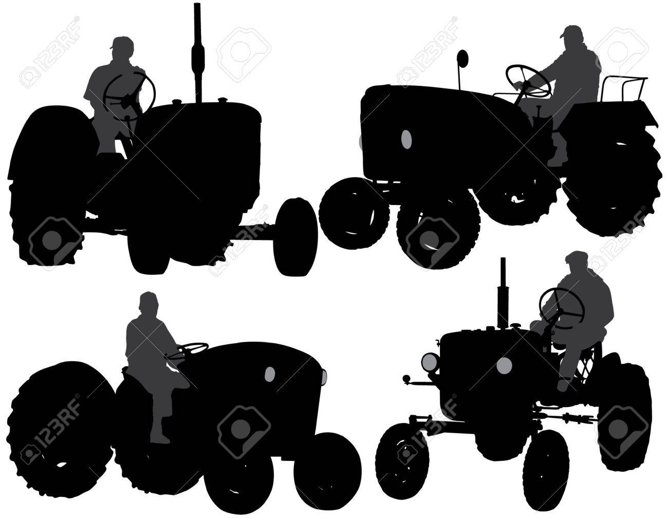 4,684 Farmer Silhouette Stock Vector Illustration And Royalty Free ...