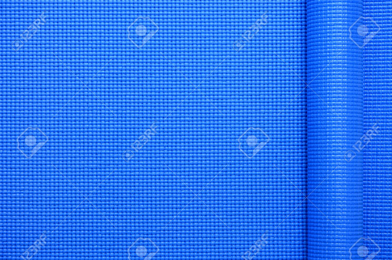 Close Up Roll Blue Color Yoga Mat Texture Background Top View Stock Photo Picture And Royalty Free Image Image 142736918