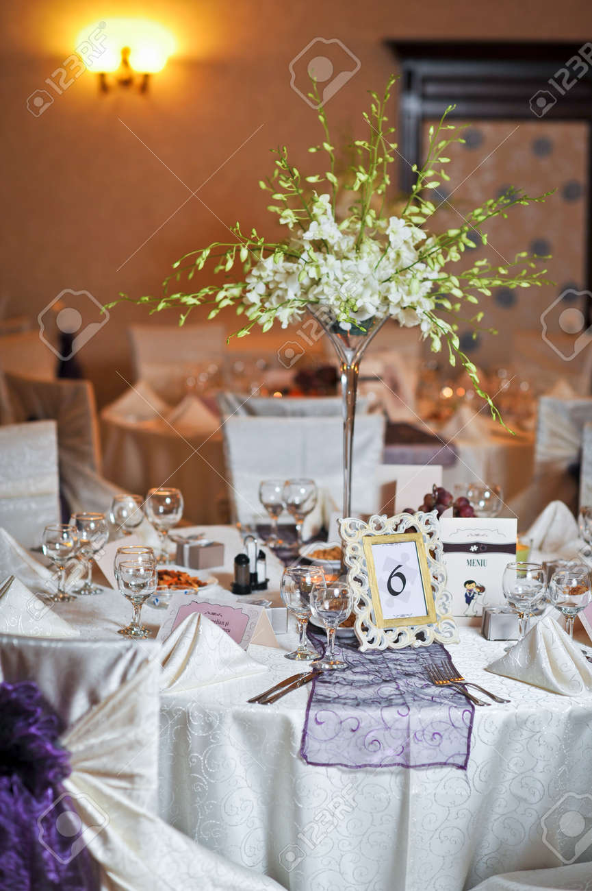 Wedding Decorations With Fruits Flowers And Card Elegant Arrangements Stock Photo Picture And Royalty Free Image Image 26566029