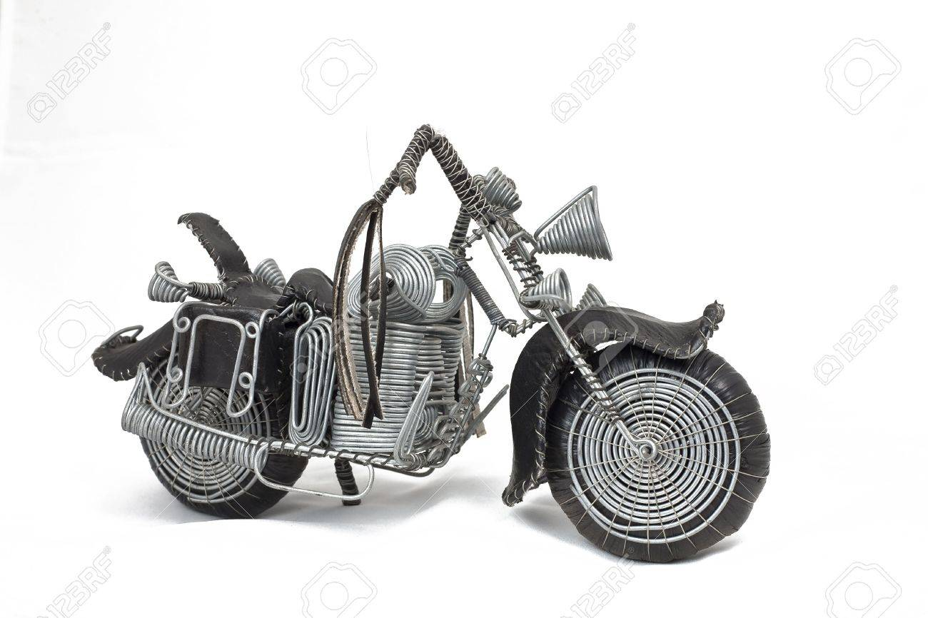 Motorcycle Wheels Cruiser Wire Frame Easy Rider Shopper Hand.. Stock ...