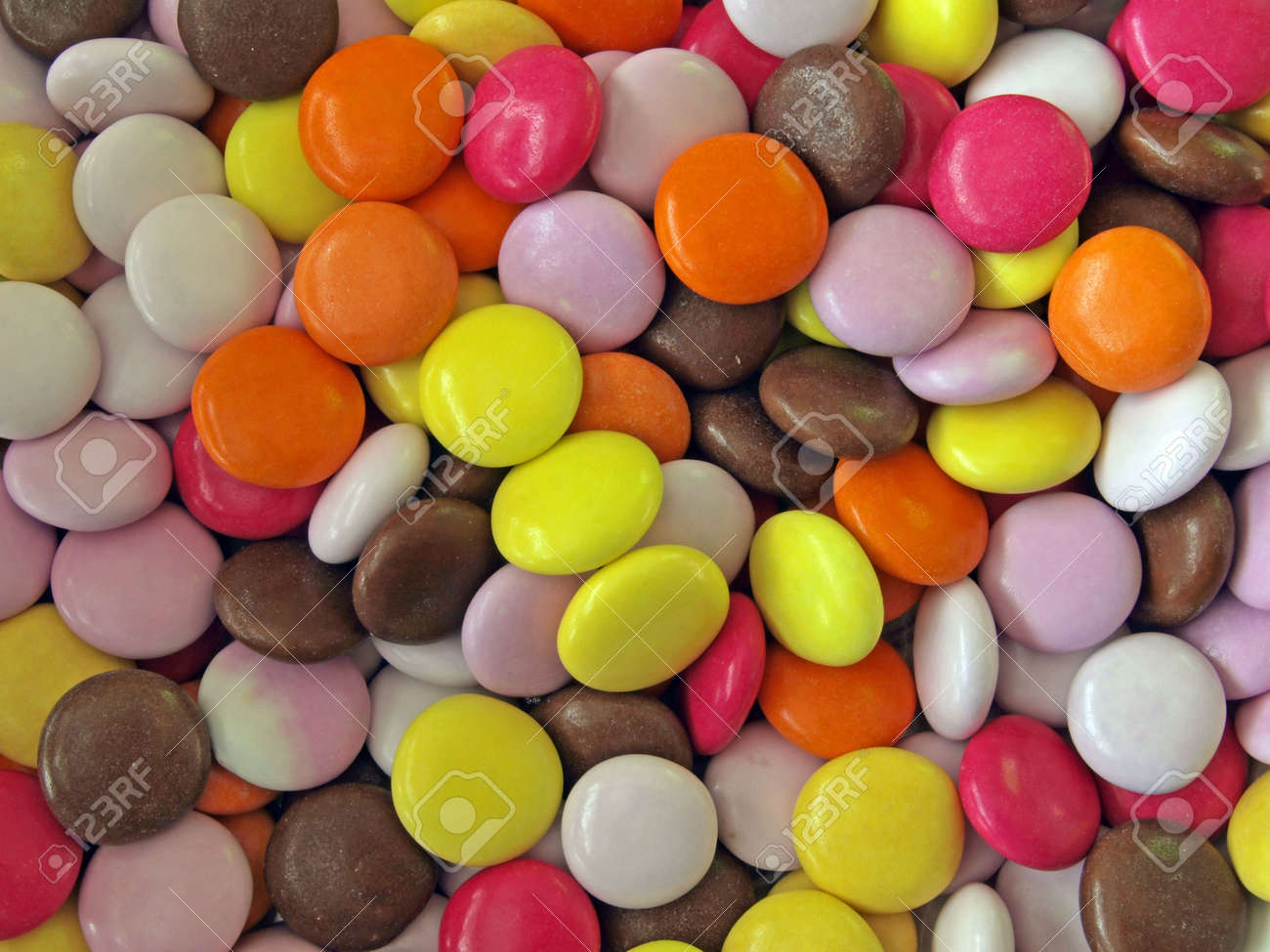 traditional easter chocolate sweets coated in a hard colourful