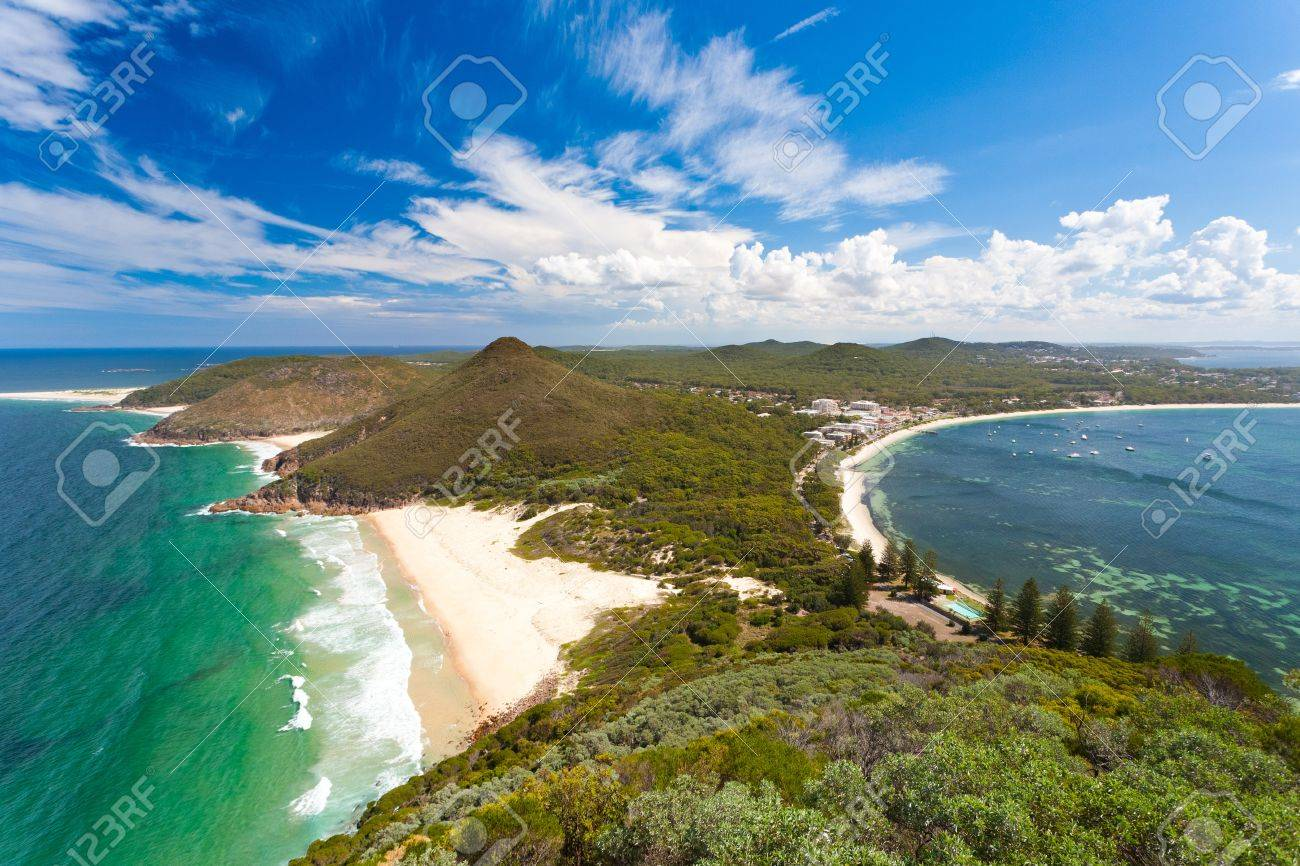 View from Tomaree Head Lookout, New South Wales Australia Stock Photo - 13212161