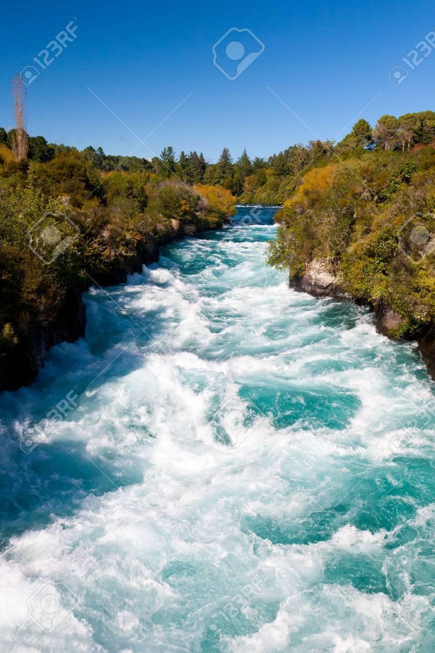 Powerful Huka Falls on the Waikato River near Taupo Stock Photo - 13211695