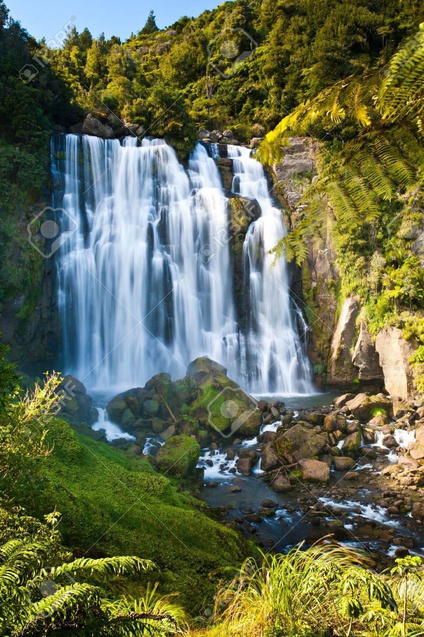 Marakopa Falls North Island New Zealand Stock Photo - 13212596