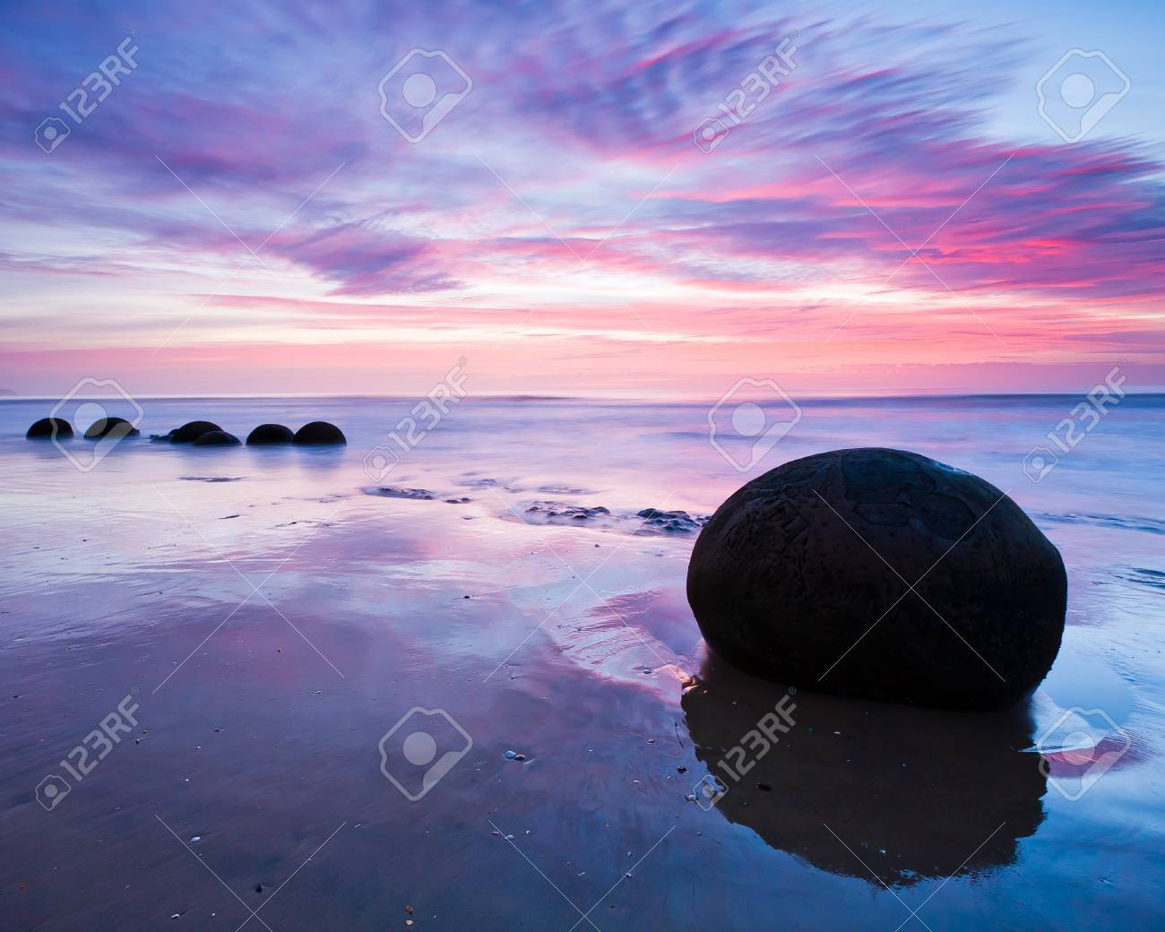 Moeraki Boulders at Dawn South Island New Zealand Stock Photo - 13210889