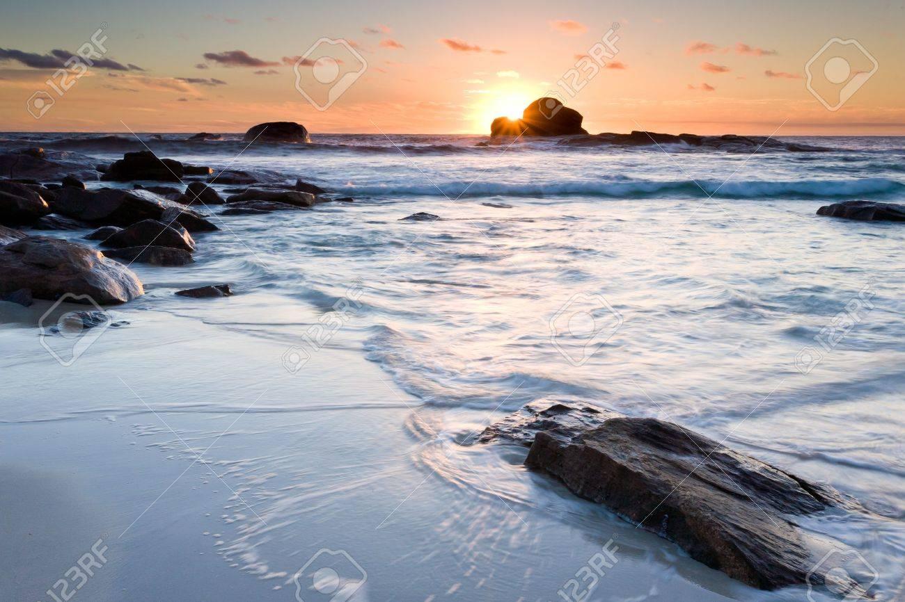 Sunset at Redgate Beach near Margaret River Western Australia Stock Photo - 13210929