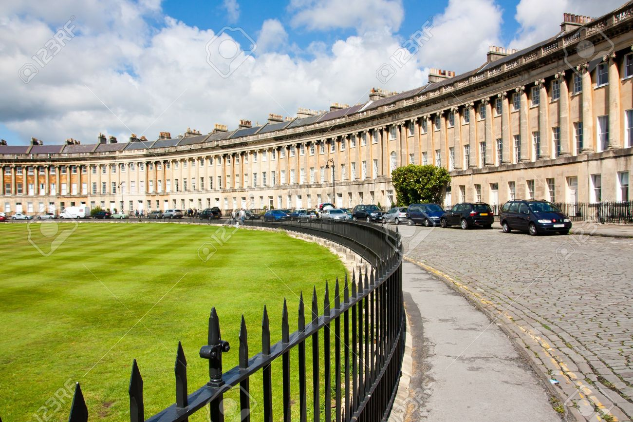 The famous Royal Crescent at Bath Somerset England UK Stock Photo - 13212167