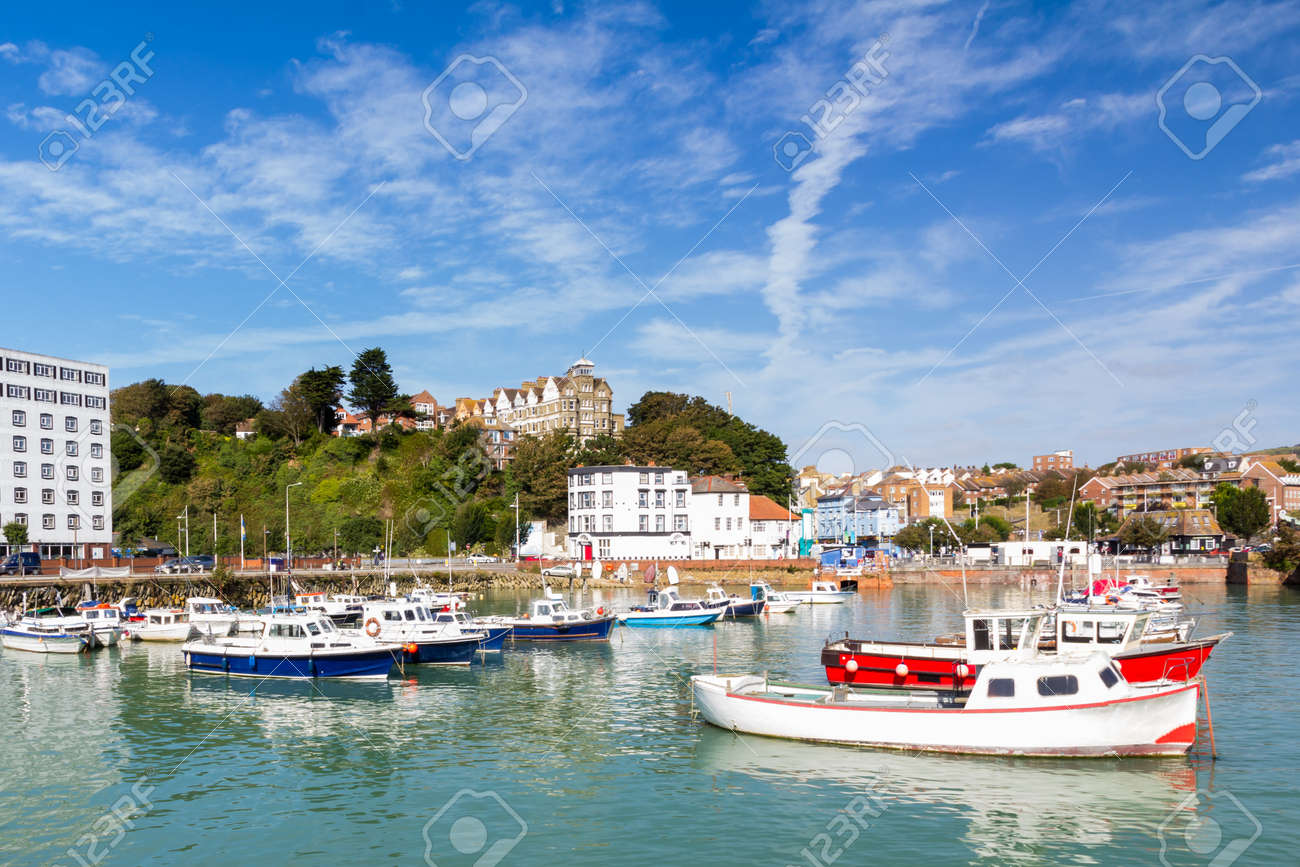 Summers day at Folkstone Harbour Kent England UK Stock Photo - 15796307