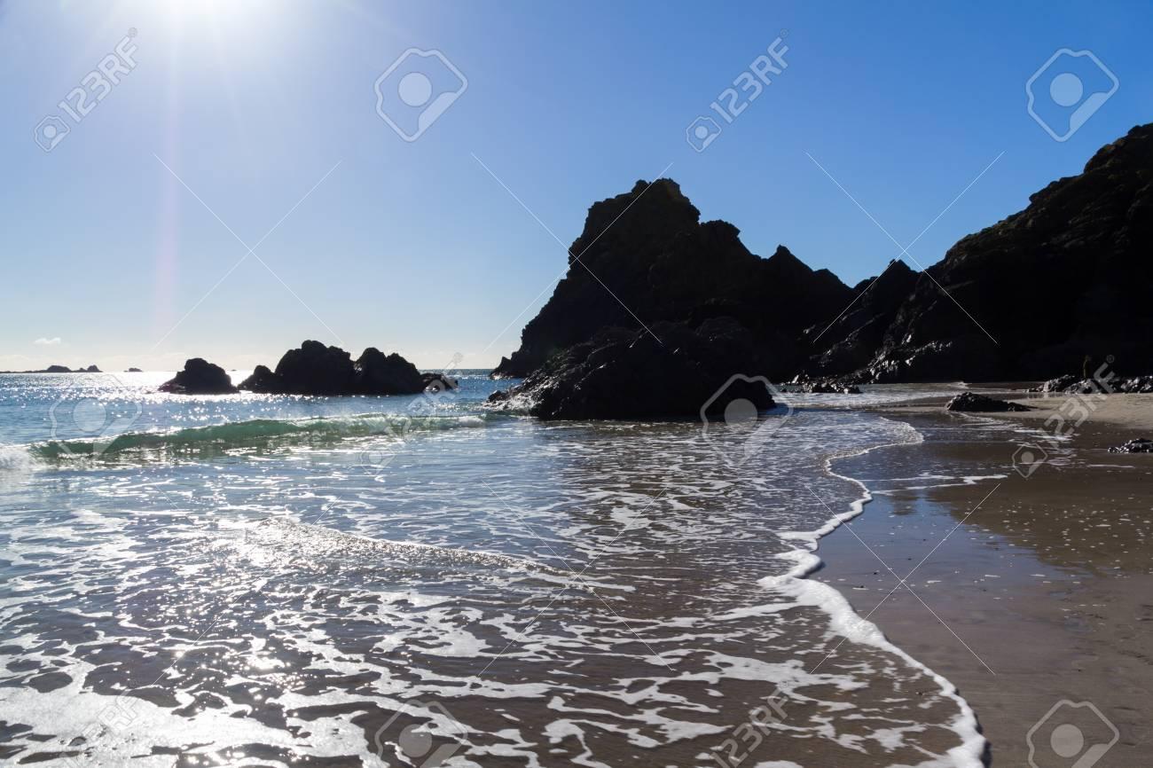 Kynance Cove on the Lizard Peninsula Cornwall England UK Stock Photo - 16159738