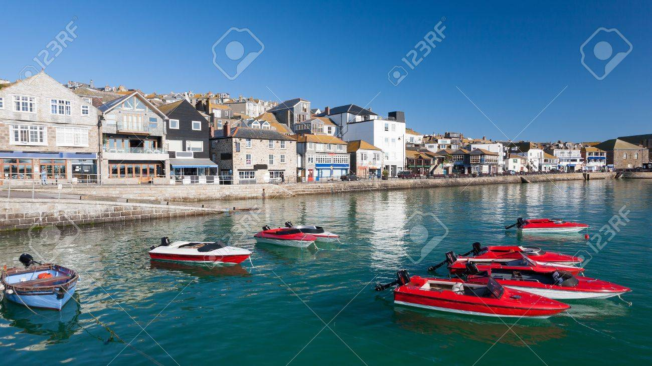 Sunny day at St Ives harbour Cornwall England UK Stock Photo - 16851349
