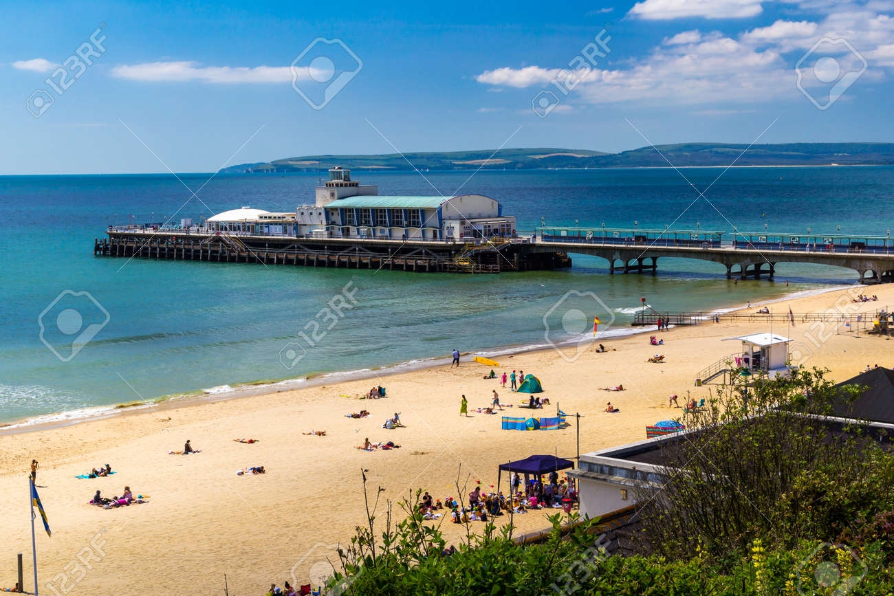 Overlooking Bournemouth Beach and Pier Dorset England UK Europe Stock Photo - 30508738
