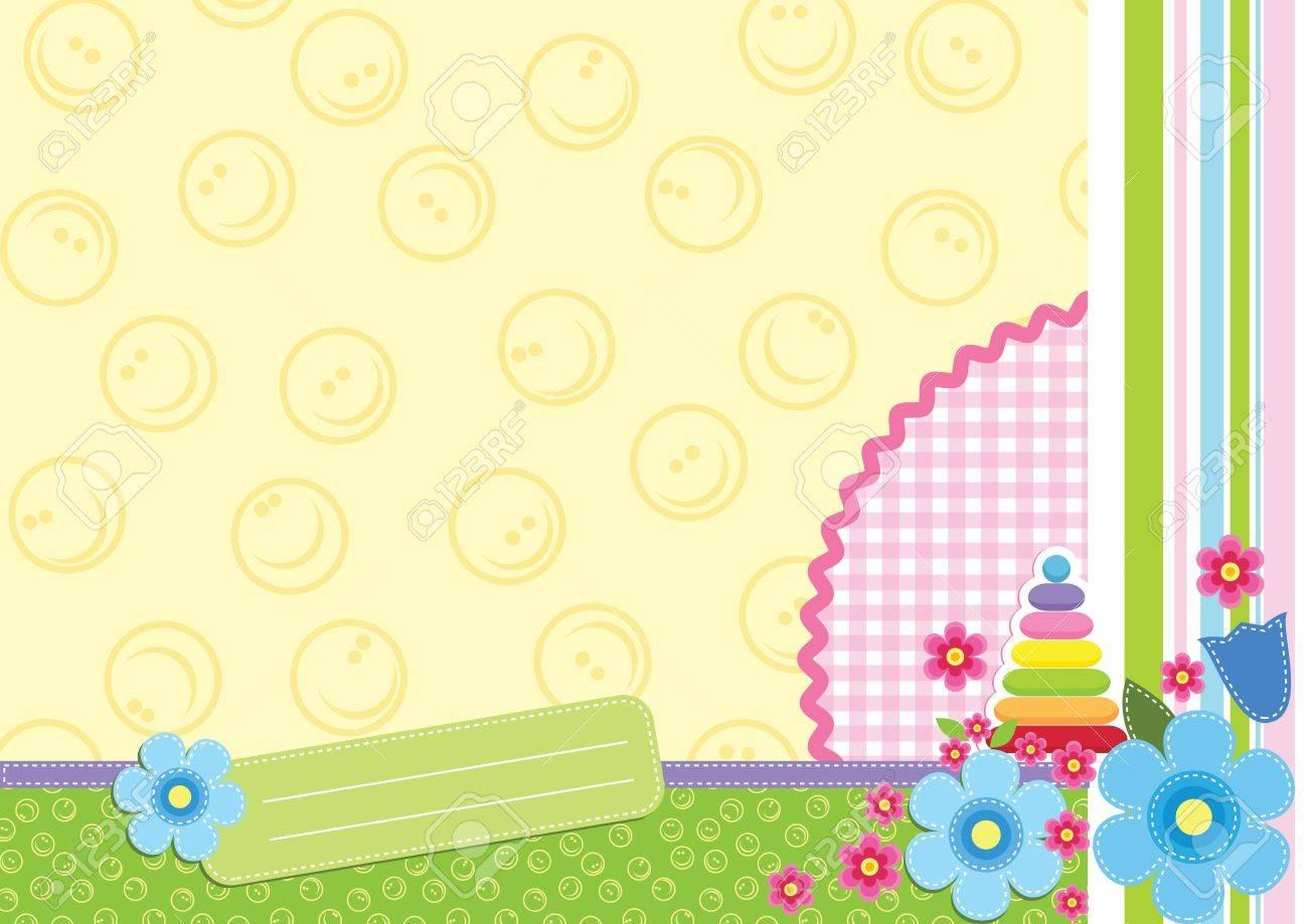 Floral child frame Stock Vector - 10687309