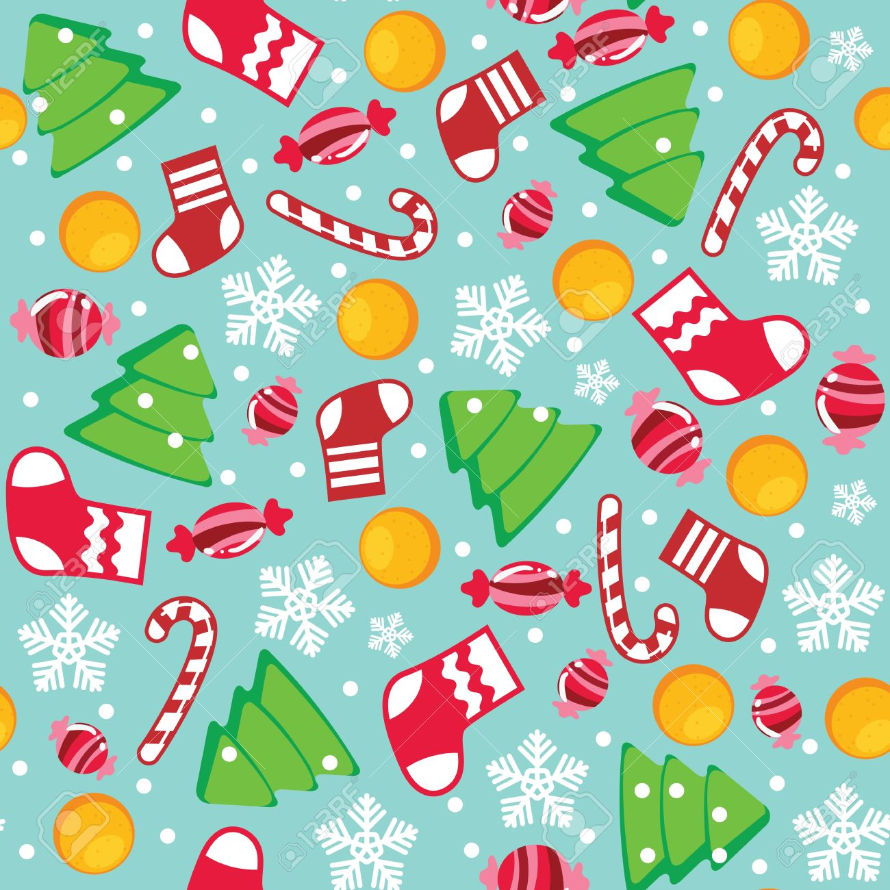 Christmas Seamless Wallpaper Pattern Royalty Free Cliparts ...