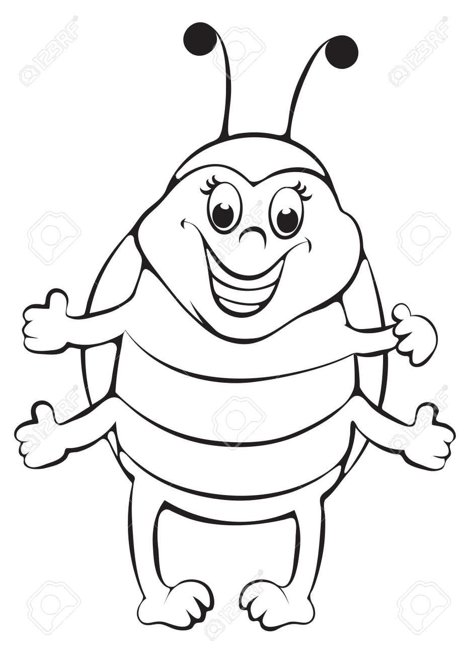 Funny ladybug  Outline illustration Stock Vector - 15245197