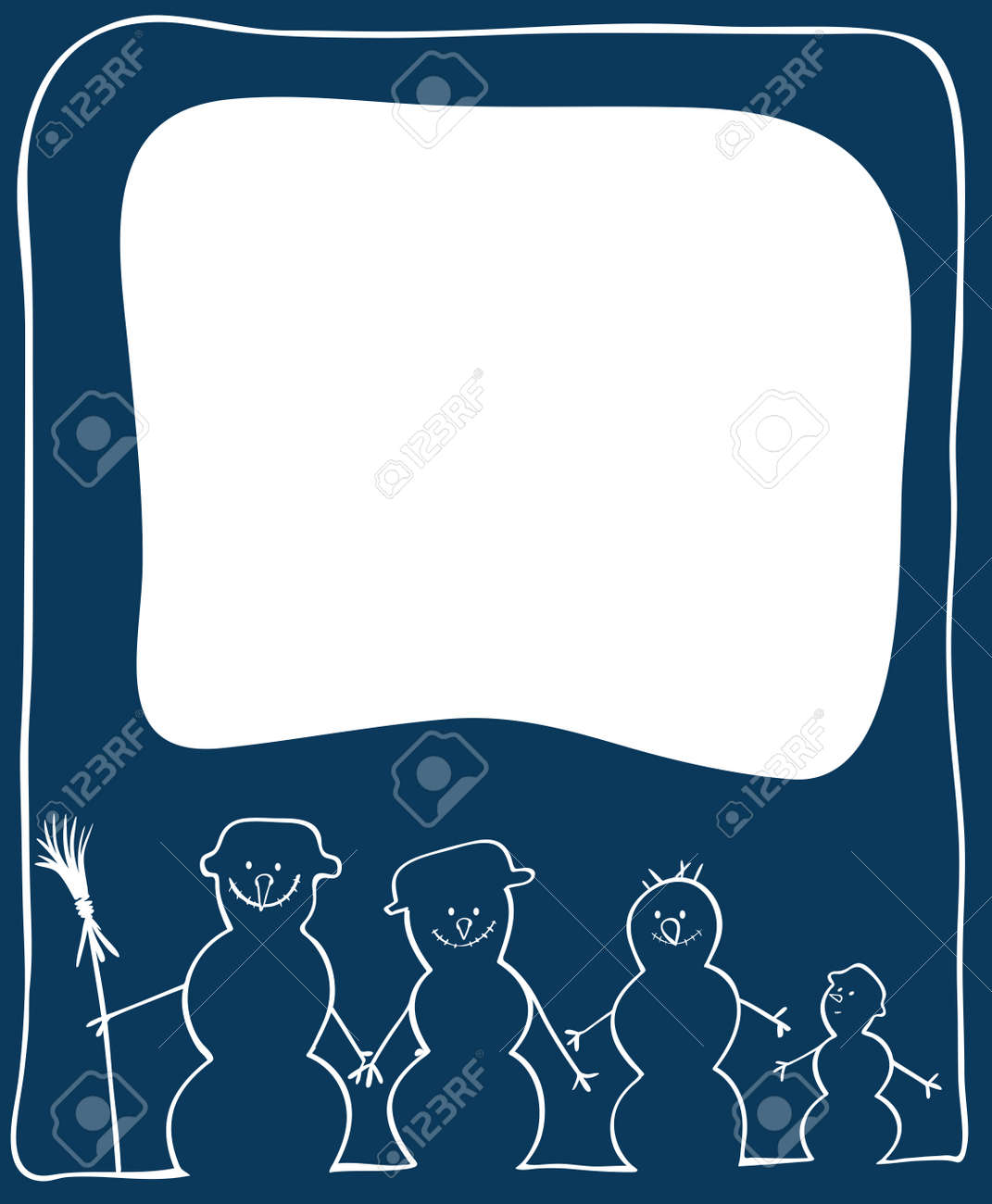 Christmas card with snowmans Stock Vector - 16953450