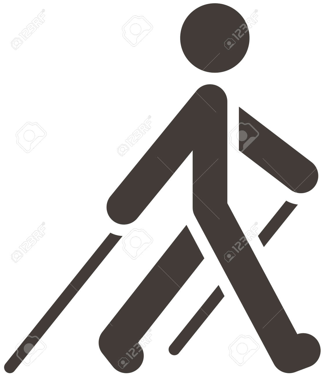 Health And Fitness Icons Set - Nordic Walking Icon Royalty Free ...