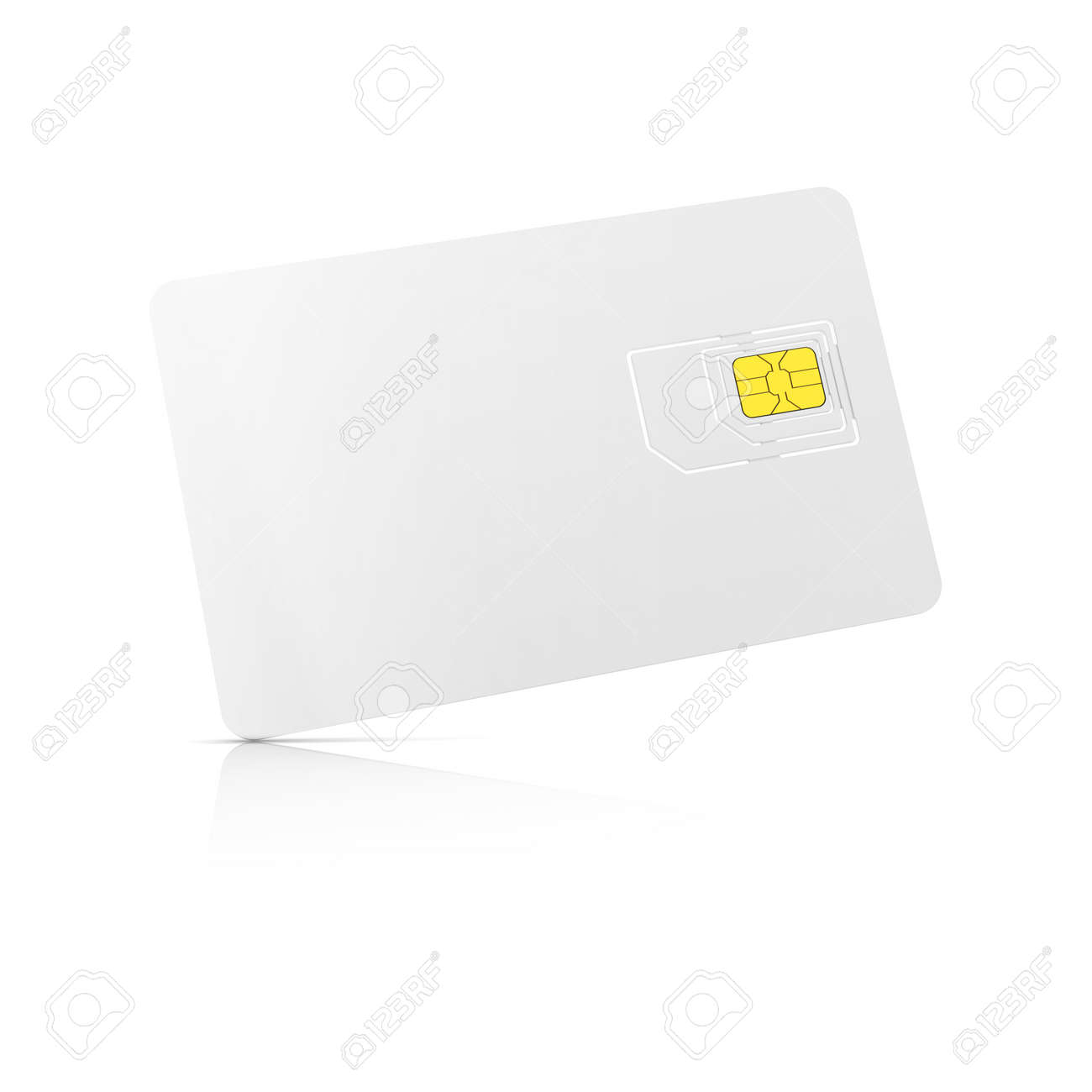 1 1 Sim Karte.Stock Photo