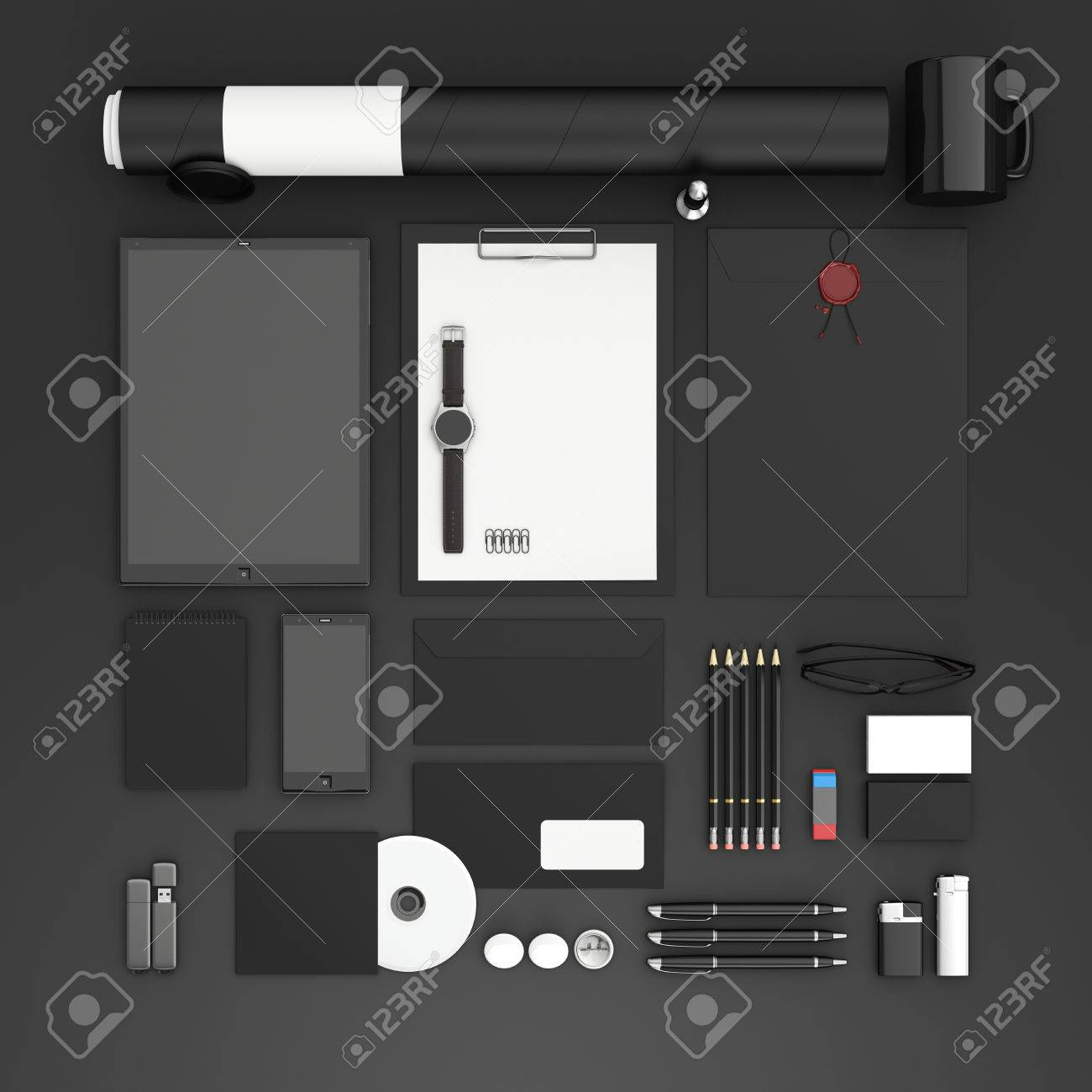 Identity Mock Up Set Of Blank Stationery For Branding Identity Stock Photo Picture And Royalty Free Image Image 52584248
