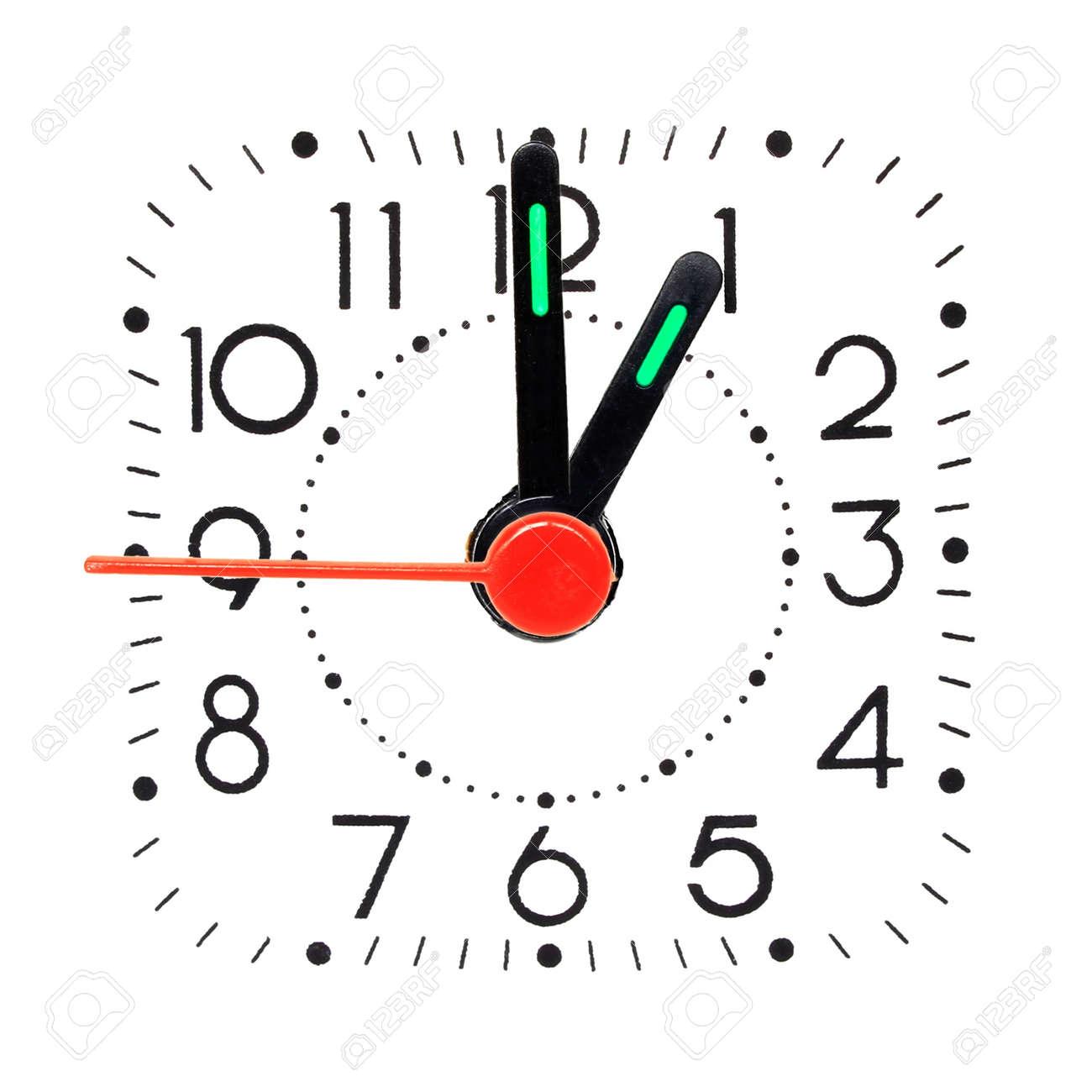 Clock Showing 10 O'clock Clock Showing 1 O'clock