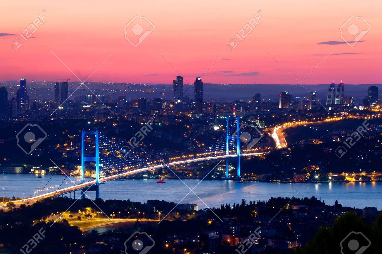 Istanbul Bosporus Bridge on sunset - 10043363