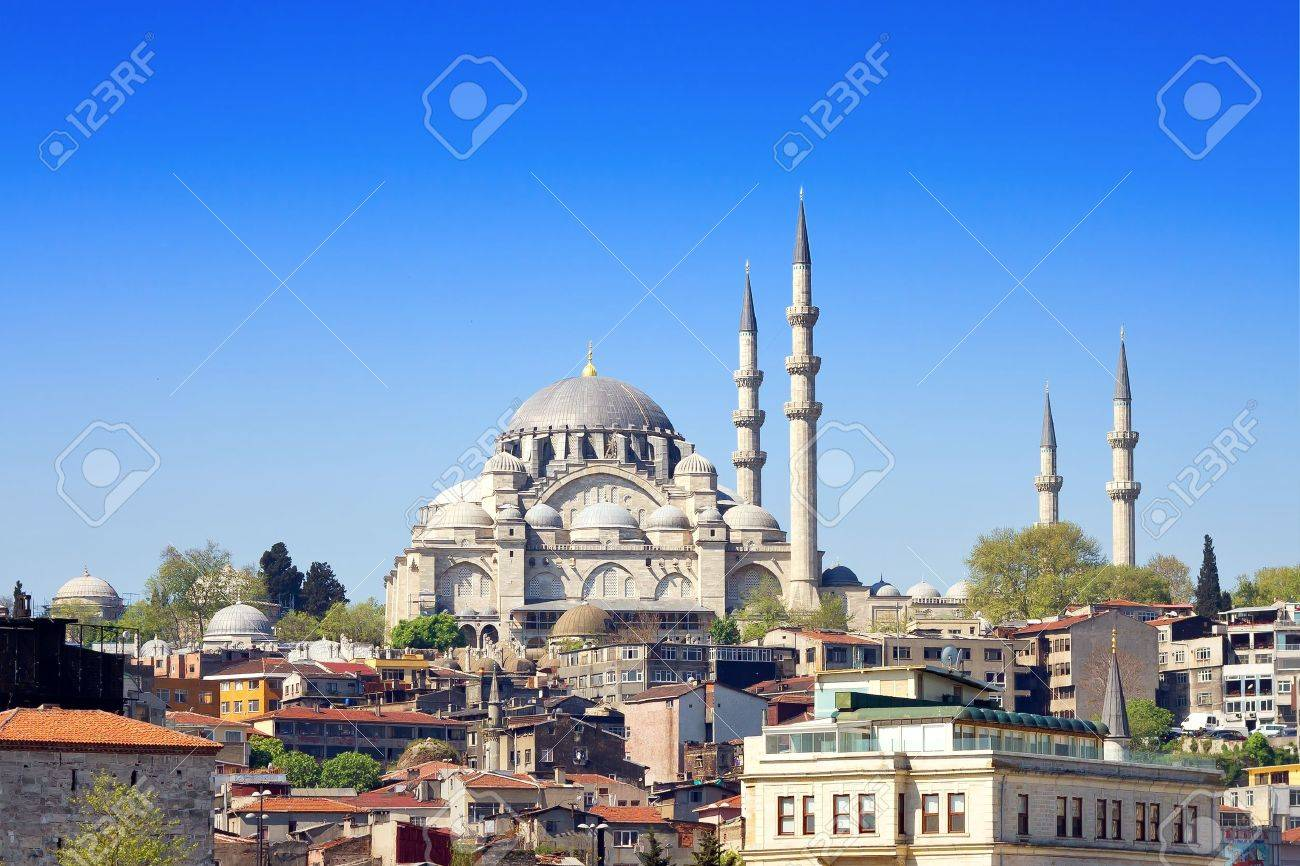 Istanbul Suleymaniye Mosque built by Suleiman the Magnificent - 12425271