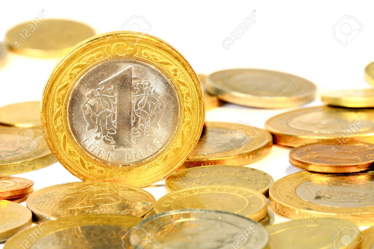 Coins over white background - 18235400