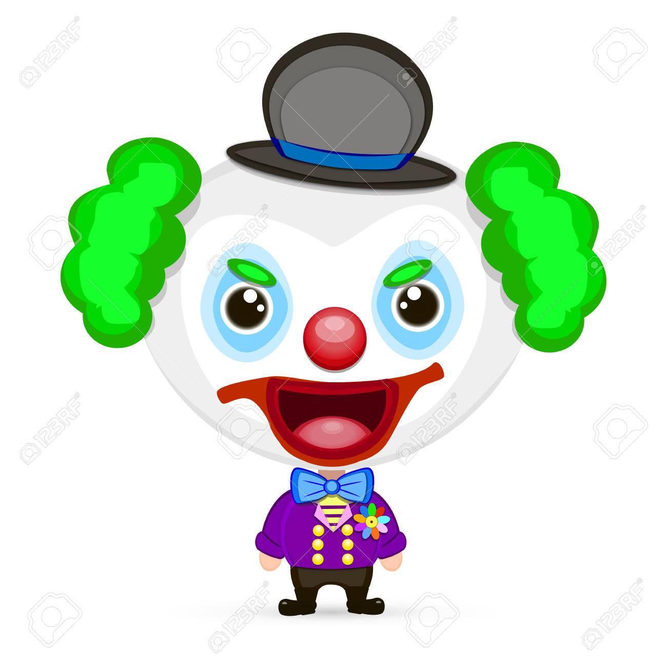 A Very Detailed Cartoon Halloween Clown Head Or Mask Royalty Free ...