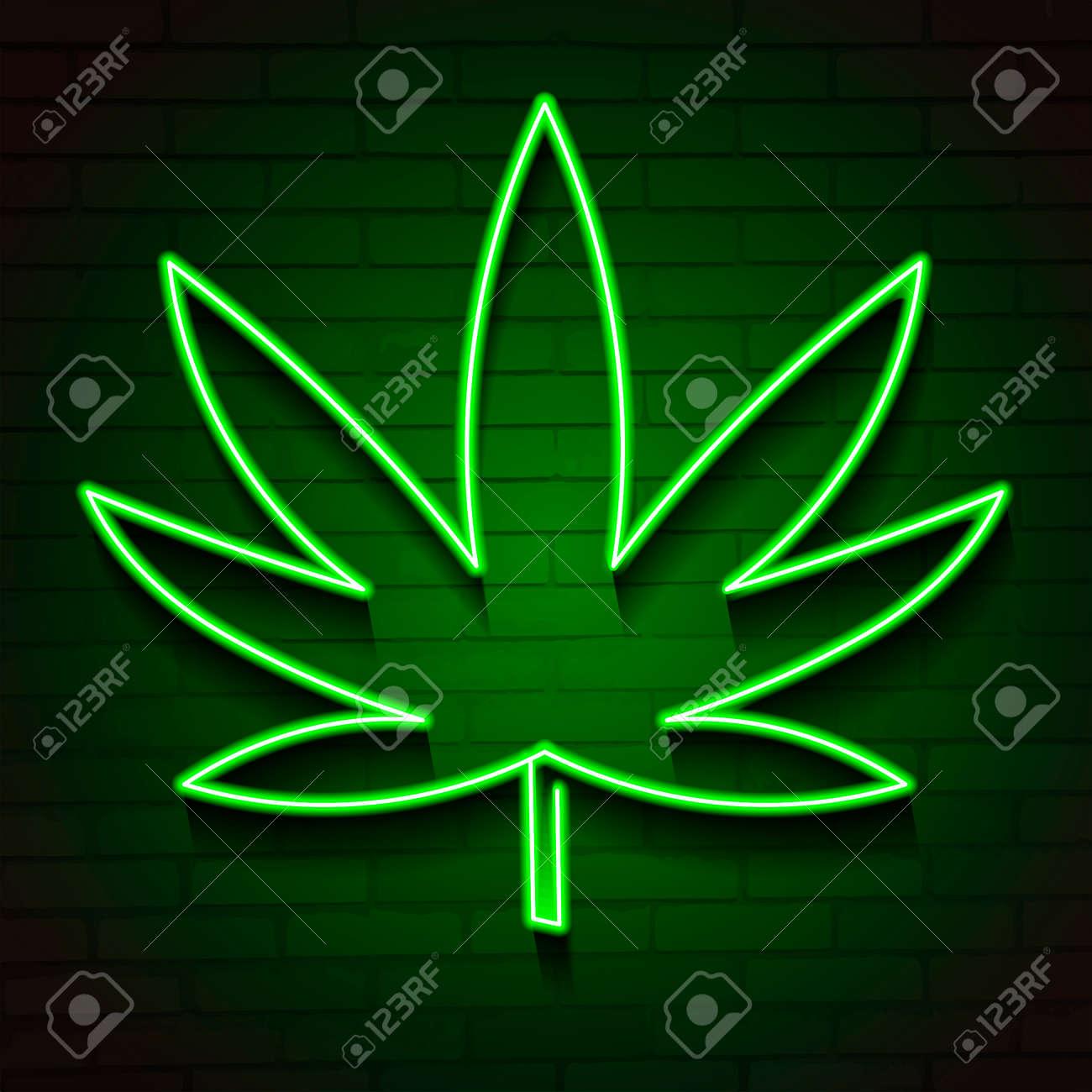 Marijuana leaf light