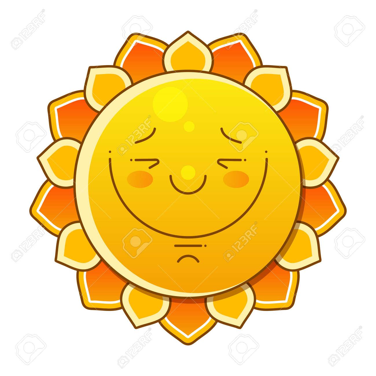 Sun Over White - Vector Illustration. Sun With Big Sign. Nice Background - 147111638