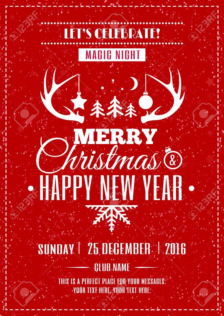 Frohe Weihnachten Poster Mit Wünsche Frohe Weihnachten Frohes Neues ...