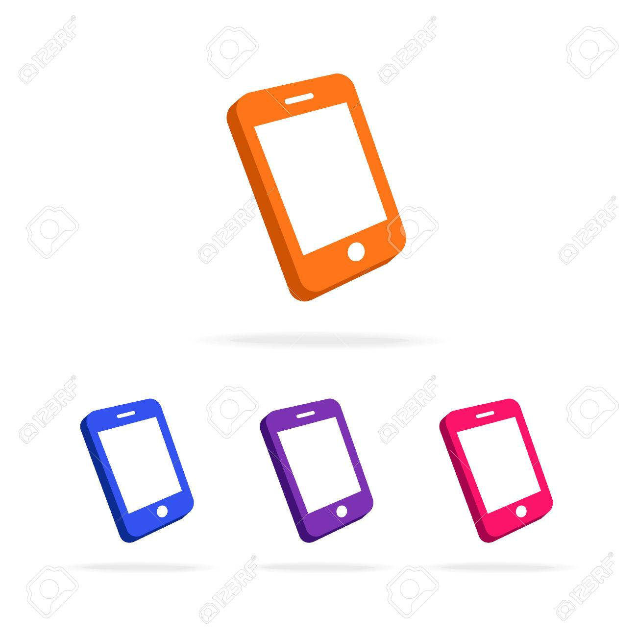 Phone logo set different color isolated on white background used phone logo set different color isolated on white background used for mobile shop mobile store phone service and repair perfect for your business card colourmoves