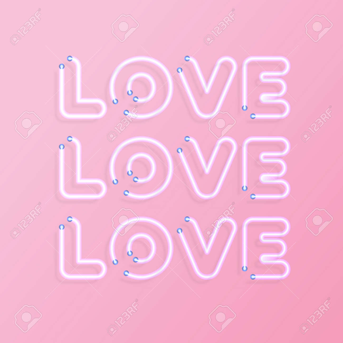 Greeting Card With Sign Love On Pink Background For Promotion