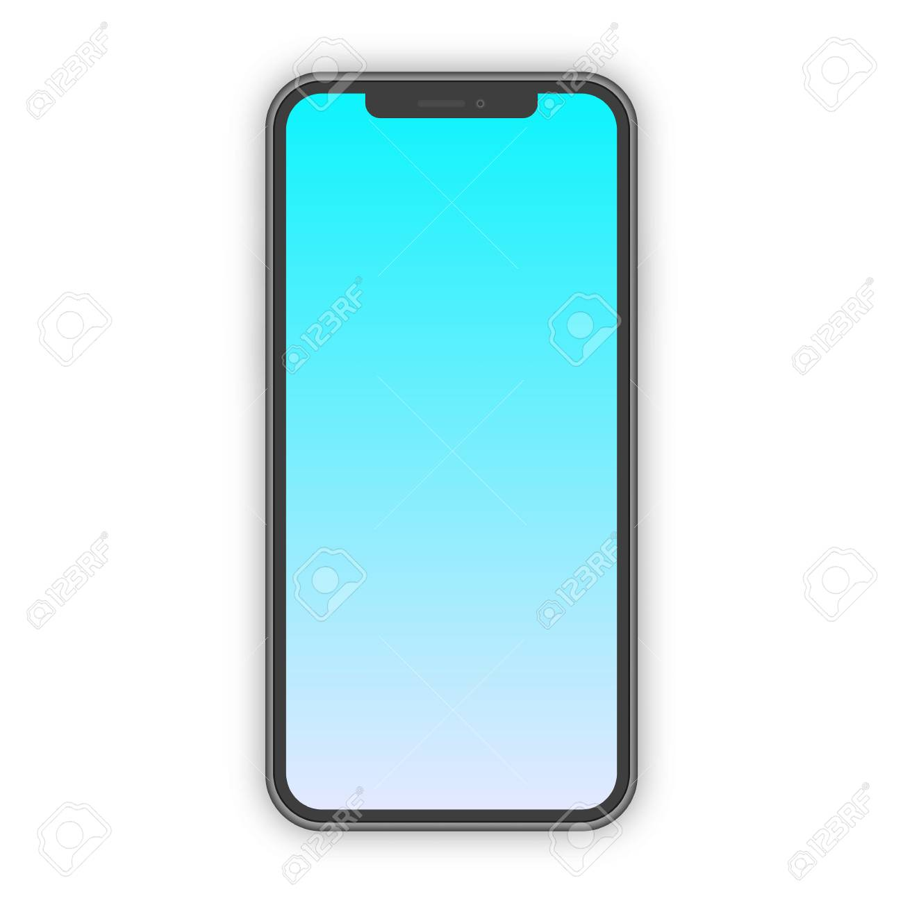 cea550f76f82ce Realistic smartphone mockup with trendy gradient screen isolated on  transparent background for ui elements, app