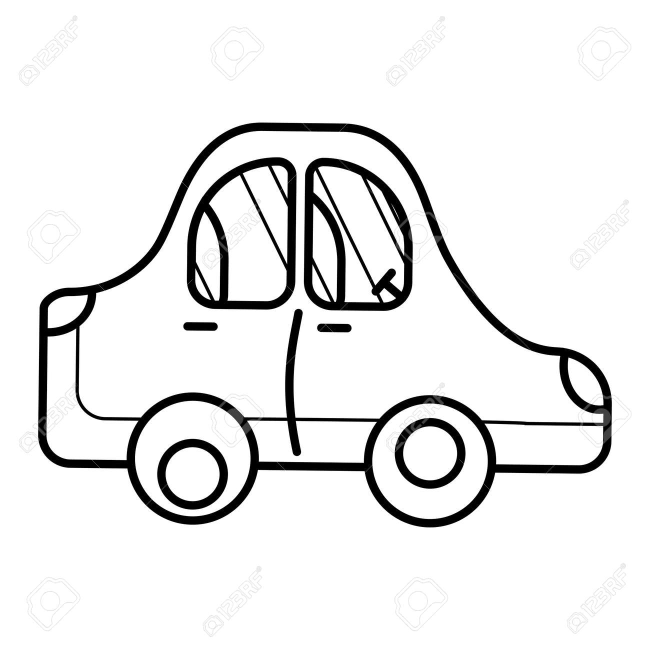 Template For Baby Coloring Illustration With A Toy Cartoon Car Royalty Free Cliparts Vectors And Stock Illustration Image 146183482