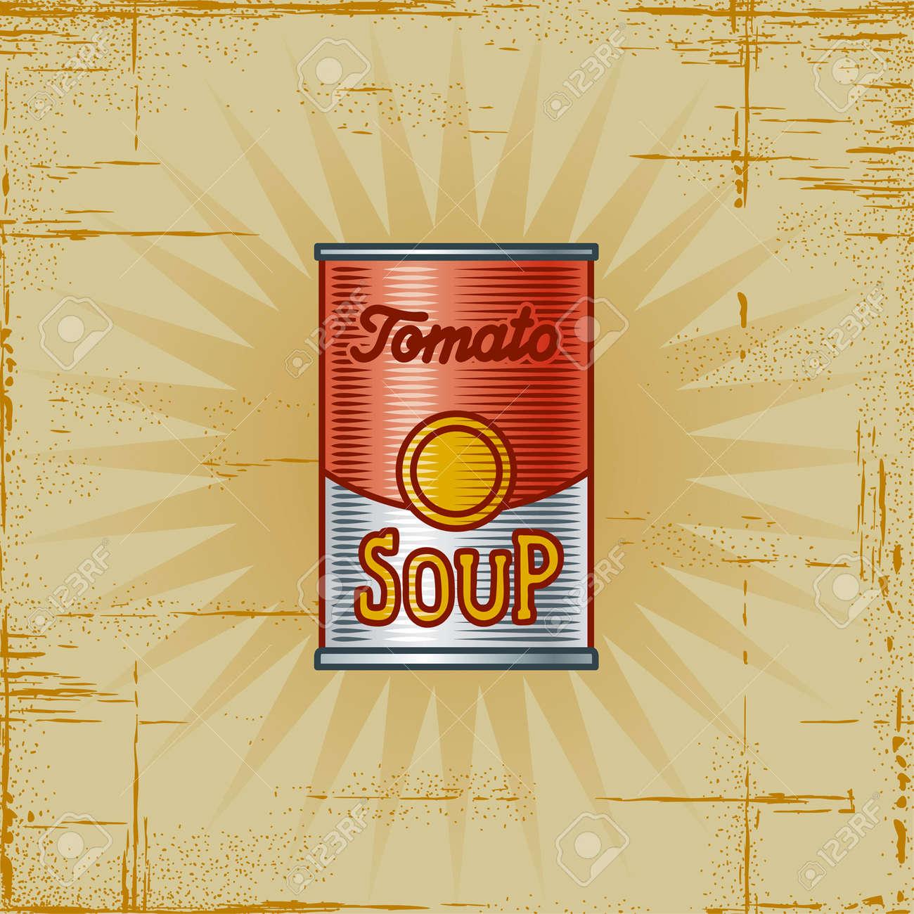 Retro Tomato Soup Can Stock Vector - 6582330