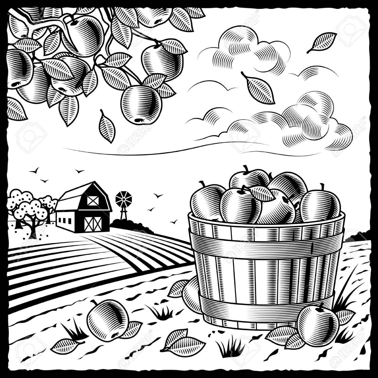 Agriculture Clipart Black And White harvest black and white