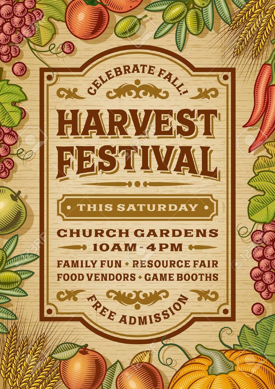 Vintage Harvest Festival Poster - 47037523