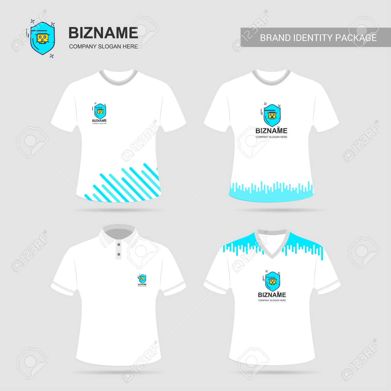 Company Design T Shirt With Logo And Design For Web Design Royalty Free Cliparts Vectors And Stock Illustration Image 104184076